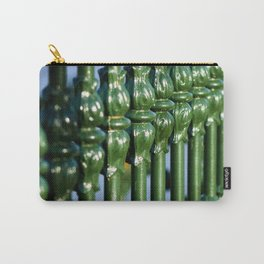 Emerald Green Gates with Tulip Detail Carry-All Pouch
