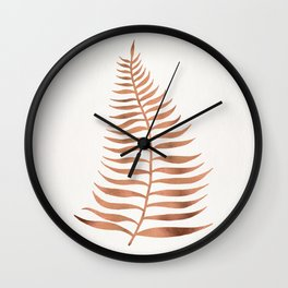Palm Leaf – Rose Gold Wall Clock