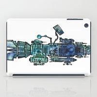 spaceship iPad Cases featuring Spaceship  by Joseph Kennelty