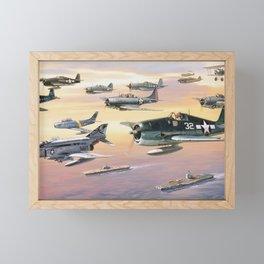 Navy Historic Squad Framed Mini Art Print