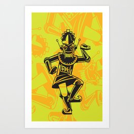 Balinese Legong Dancing Robot Art Print