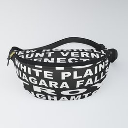 New York State Cities Bus Roll Fanny Pack