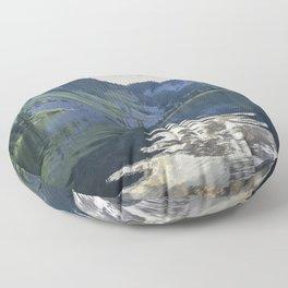Cool Aqua Lake Floor Pillow