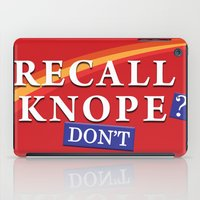 leslie knope iPad Cases featuring Recall Knope by BovaArt