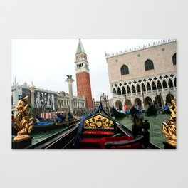 Departing Gondola - Venice Canvas Print