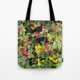 Flower and Berries Tote Bag
