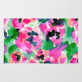 Abstract Flora Green Rug