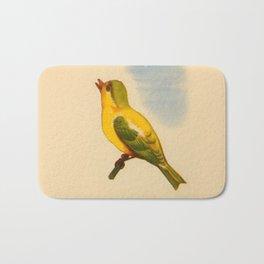 Cute Canary Painting Bath Mat