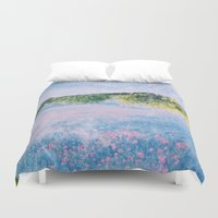cities Duvet Covers featuring Cloud cities by Valeria Nuyanzina