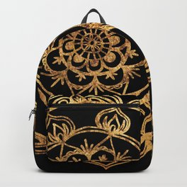 Gold Foil Mandala Backpack