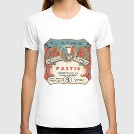 Vintage French Label, Pastis Digestif T-shirt