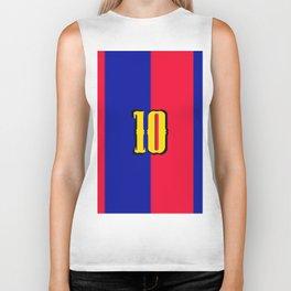soccer team jersey number ten Biker Tank