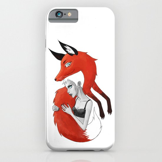 Girl and a Fox iPhone & iPod Case