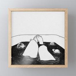 Magical bath tube. Framed Mini Art Print