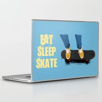 skate Laptop & iPad Skins featuring skate by the lazy pigeon