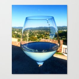 the wine bubble that drops out of the glass Canvas Print