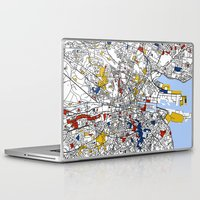 dublin Laptop & iPad Skins featuring Dublin mondrian by Mondrian Maps