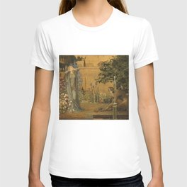 Beauty and the Beast, 1904 by John D Batten & Joseph E Southall - Reproduced from original under CC0 T-shirt