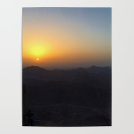 The Sunrise at Moses mountain Poster