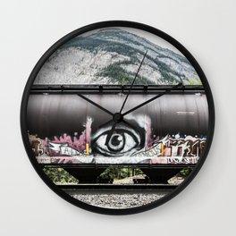 I see mountains Wall Clock