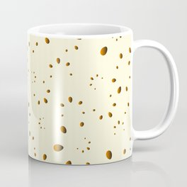 A lot of orange drops and petals on a gentle background in mother of pearl. Coffee Mug