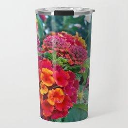 Lantana camara in red Travel Mug