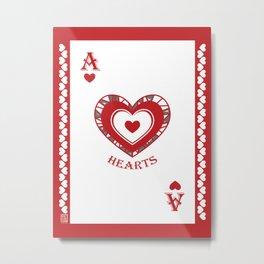 Ace of Hearts - Hylian Court Legend of Zelda Metal Print