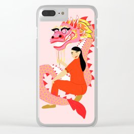 Dragon Lady Clear iPhone Case