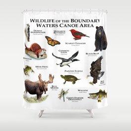 Wildlife of the Boundary Water Canoe Area Shower Curtain