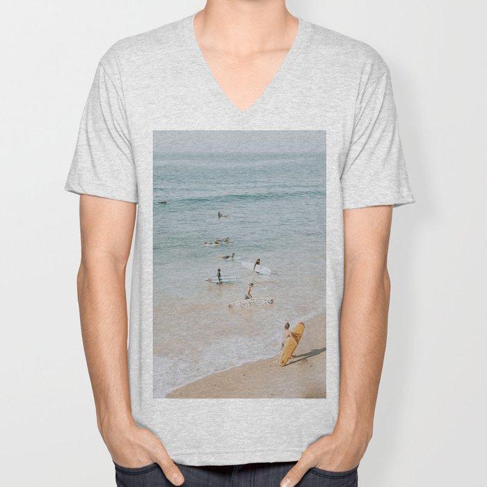 lets surf iii Unisex V-Neck