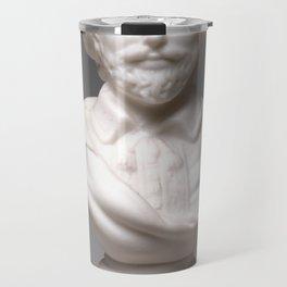Vintage William Shakespeare Sculpture Photograph (1870) Travel Mug