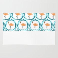 Flamingo and Leaves Rug