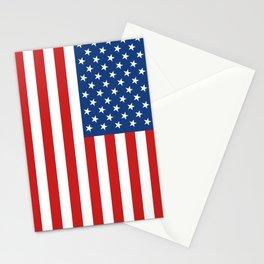 United States Flag Stationery Cards