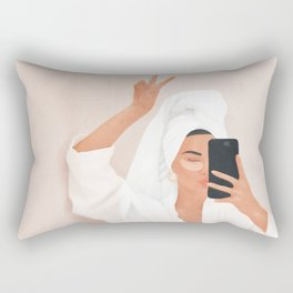 Morning Selfie Rectangular Pillow