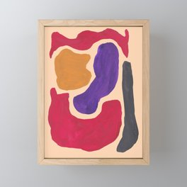 31 190330 Abstract Shapes Painting Framed Mini Art Print