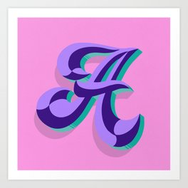Letter A - 36 Days of Type Art Print
