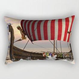 The  viking longship Rectangular Pillow