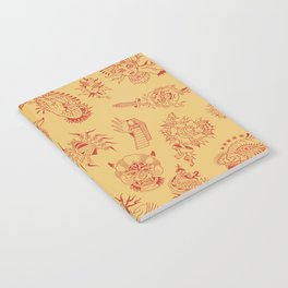 TRADITIONAL TATTOO PATTERN (COLORED) Notebook