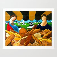 bread Art Prints featuring BREAD by William Cain