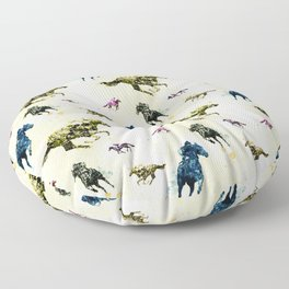 Horse Race Floor Pillow