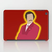 anchorman iPad Cases featuring Ron Burgundy: Anchorman by The Vector Studio