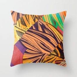 Mad Butterfly Throw Pillow