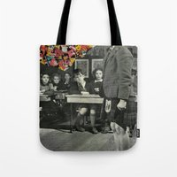 lost in translation Tote Bags featuring Lost In Translation by Nico Padayhag