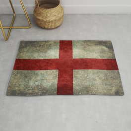 Flag of England (St. George's Cross) - Vintage version to scale Rug