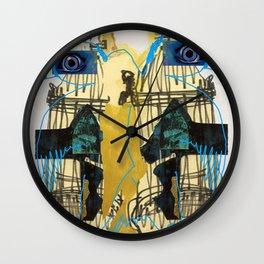 Blue Bird Escape  Wall Clock