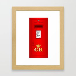 Traditional British  Georges Reign Postbox Framed Art Print