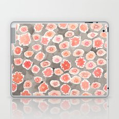 Watercolor flowers pink and gray by robayre Laptop & iPad Skin