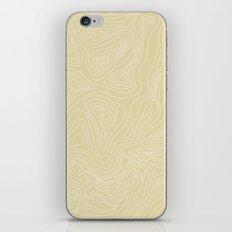 Ocean depth map - sand iPhone & iPod Skin