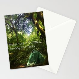 Camping Among the Trees Stationery Cards