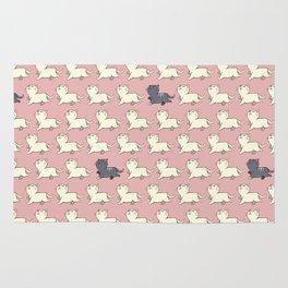 Proud cat pattern Pink Rug